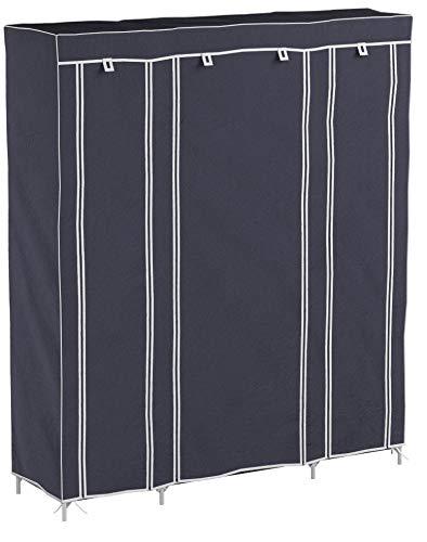 LEMAIJIAJU Armoire en Tissu Penderie de Vêtement en Toile Mobilier de Chambre Rangement de Vêtements Unique Tringles à Vêtements 150 * 45 * 175cm Gris