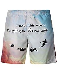 581cdfbfc0bd YSFU Pantaloncini da Spiaggia Pantaloncini da Spiaggia da Uomo E da Donna,  Pantaloncini Elastici Estivi