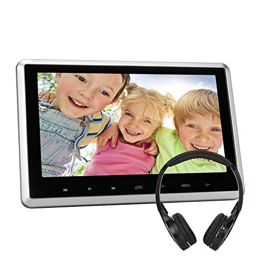 """NAVISKAUTO 10,1"""" Zoll DVD Player Auto mit HD Monitor Videogeräte für Kopfstützen HDMI mit Fernbedienung Kostenlos Kopfhörer KFZ USB SD FM IR für Kinder TFT LCD Bildschirm 03S"""