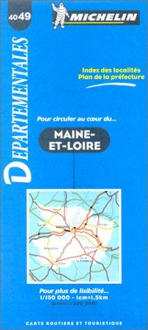 Carte routière : Maine-et-Loire, 4049, 1/150000