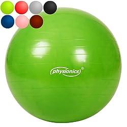 Physionics-gymb01happy Gras-Gymnastikball-grün-65cm Auswahl