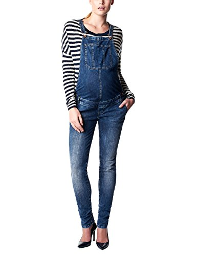 Noppies Damen Latz Umstands Jeans salopette Ava, Gr. W31, Blau (Dark Stone Wash C296)