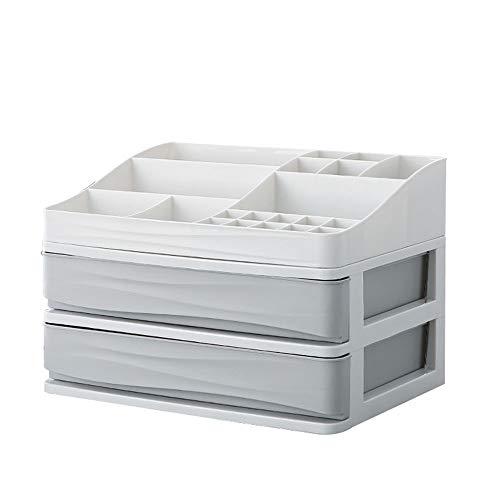 Regal TONGTONG SHOP Schubladen-Typ Kosmetik Aufbewahrungsbox Nordic Kunststoff Schmuck Lippenstift Finishing-Box Multi-Layer-Büro-Schrank - Regal Schubladen Streifen
