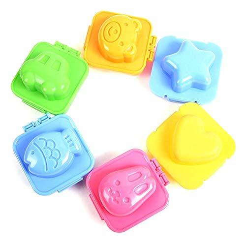 6Pcs Palla Di Riso Della Muffa Del Fumetto Modulo Sushi Mold Strumento Onigiri Palla Di Riso Bento Press Maker Muffa Diy