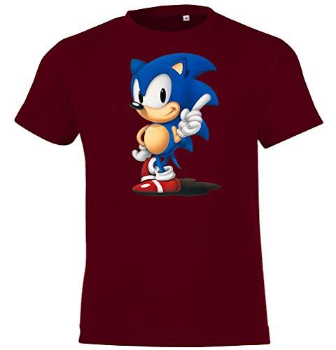 Kinder T-Shirt Modell Sonic, Gr. 96/104 (4 Jahre), Burgundy