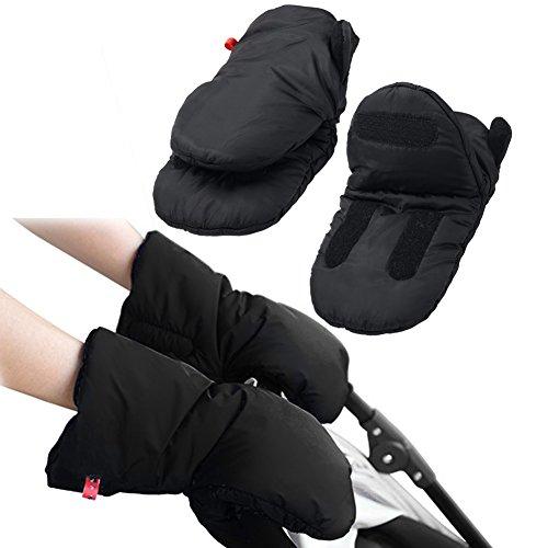 Cochecito de bebé mano Muff Extra gruesa impermeable anticongelante paseo guantes