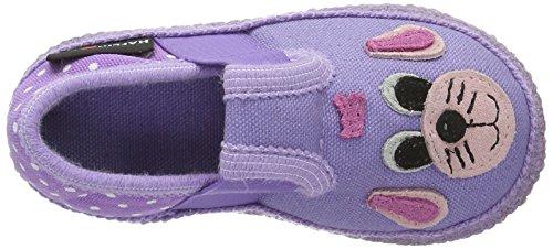 Haflinger Mädchen Rex Hausschuhe Violett (Orchidee)