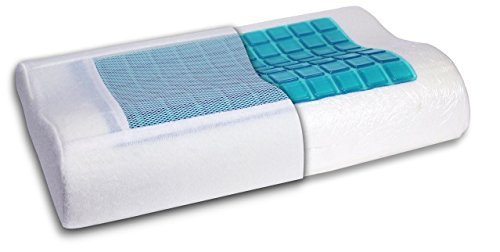 Cooling Gel Memory Foam Contour Pillow - Therapeutic Support by Sam Salem & Son