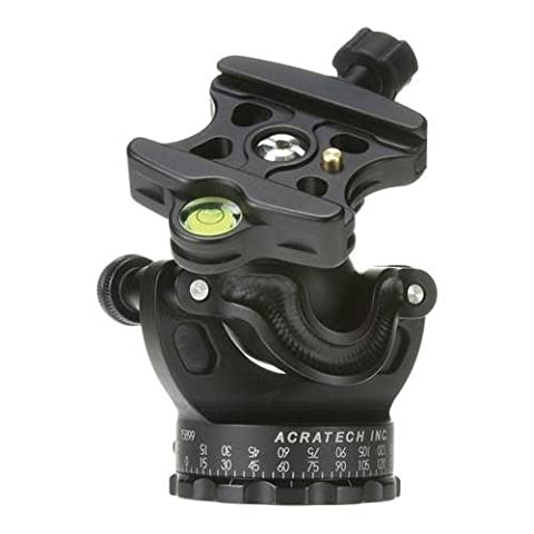 Acratech GP Ballhead with Gimbal Feature, with all Rubber Knobs, Quick Release / Detent Pin and Level, Supports 25 lbs.