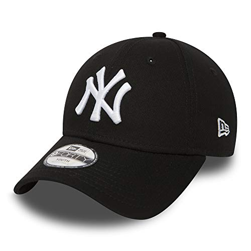 New Era Kinder Jungen Baseball Cap Mütze 940 Strapback MLB League Basic NY Yankees Kinder Schwarz