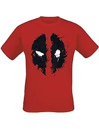 Deadpool Face Camiseta Rojo