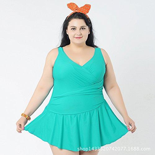 Kleid Fancy Badeanzug (Sport Tent-Plus Size one-piece solid Farbe Kleid Badeanzüge Badehosen , Ausblenden , 4XL)