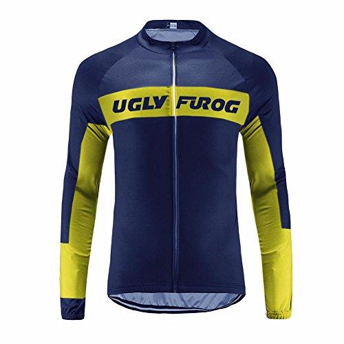 Uglyfrog HDWLJ03 Radtrikot Herren Fahrradshirt Jersey Sportswear Atmungsaktiv Lange Ärmel Winddicht Coat -