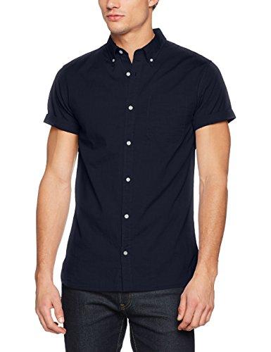 JACK & JONES PREMIUM Herren Freizeithemd Jprkevin Shirt S/S Blau (Dark Navy Fit:Slim Fit)