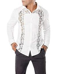 e5ffadb23b camicia di pizzo - 50 - 100 EUR / Uomo: Abbigliamento - Amazon.it