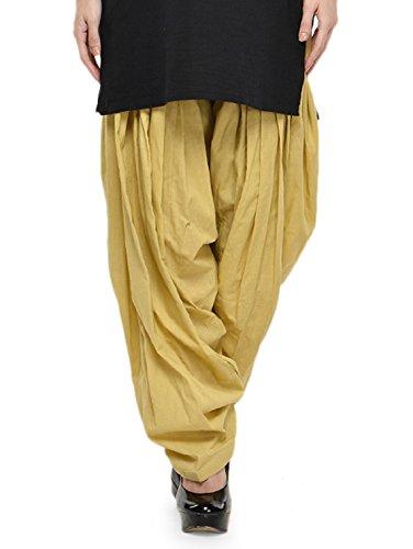 Stylenmart Women Cotton Solid Full Patiala Salwar (Stmapa078622 _Beige _Free Size)