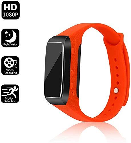 ZGYQGOO 1080P HD-Kamera Portable Smart Watch One-Touch-Fotografieren Einfach zu bedienende Loop Recording Recorder-Unterstützung Verbindung zum Computer, Rot