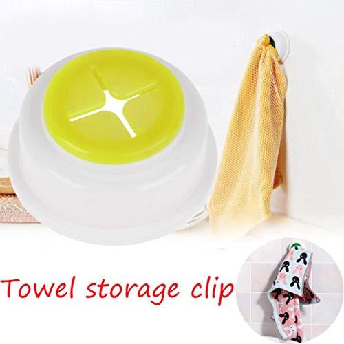 TAOtTAO 2 Stücke Lagerregal Clips Handtuch Clips Badezimmer Lagerung Hand Tuch Reißverschluss Clip