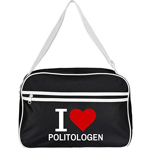 Bolso Retro Classic I Love politólogos colour negro