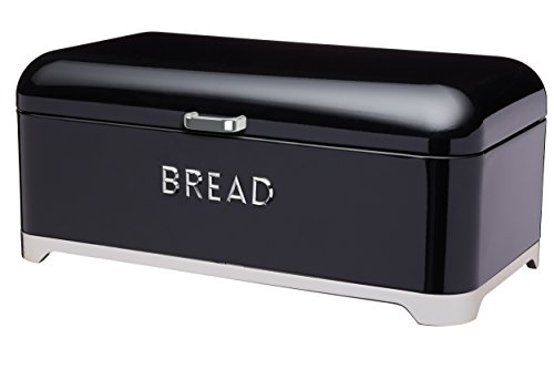 Kitchen Craft LOVELLO Brotkasten, 42 x 22 x 18 cm – Schwarz