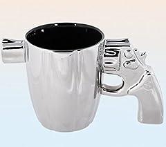 Idea Regalo - OOTB - Tazza da caffè Standard in Ceramica, Colore: Argento