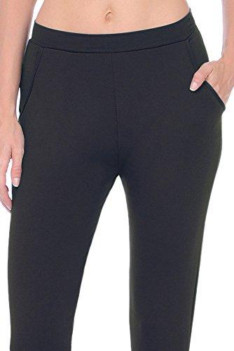 Danskin Damen Hose Jazzpants Woman Low Rise Rich Black