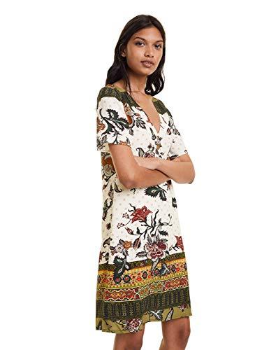 Desigual Damen Dress HILIER Kleid, Grün (Verde Jack 4074), (Herstellergröße: 40)
