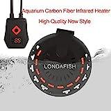 LONDAFISH Acquario in Fibra di Carbonio Radiatore a infrarossi Lontano Regolabile Termostato sommergibile Riscaldatore con Cavo di Alimentazione 2.5 m Display a LED della Temperatura 300 W