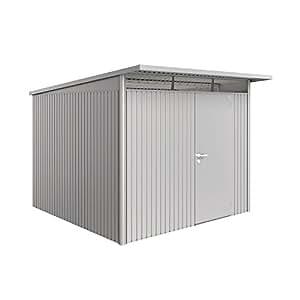 Biohort cabane de jardin avantgarde 1 porte en métal argenté-xL avec montage 3