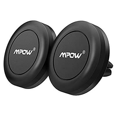 Support Voiture Magnétique,Mpow Support téléphone voiture Air Vent, Aimanté Universel, Fixation à la grille aération, Compatible avec iPhone,LG, Huawei, wiko et les autres smartphones,GPS.2 PACKS par Mpow - Supports voiture