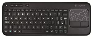 Logitech Wireless Touch Keyboard K400 Tastiera - QWERTZ [Importato da Germania]