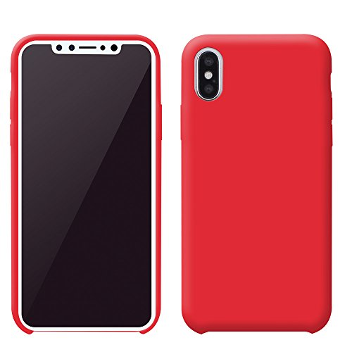 iProtect TPU Schutzhülle Apple iPhone X Softcase Silikon Rosa TPU Softcase Silikon Rot
