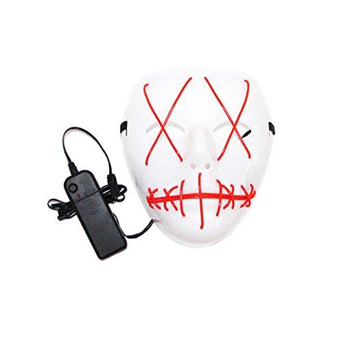 MXL 1 Watt Maskerade/Halloween Ghost Slit Mund Leuchten Lumineszenz Maske für Party Prop Hat (1 STÜCKE)