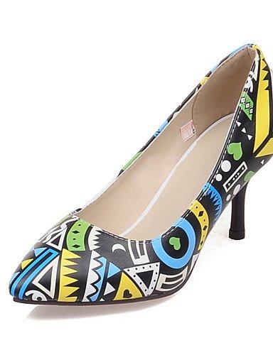WSS 2016 Chaussures Femme-Bureau & Travail / Habillé / Décontracté-Jaune / Rouge-Talon Aiguille-Talons / Confort / Bout Pointu-Talons-Polyuréthane yellow-us6 / eu36 / uk4 / cn36