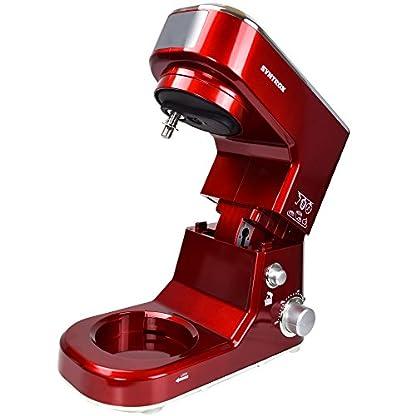 Syntrox-Germany-KM-1000W-Kchenmaschine-Knetmaschine-Mixer-Edelstahl-Behlter-5-Liter-rot
