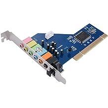 XCSOURCE PCI 7.1 canales de sonido envolvente 3D 7.1CH Tarjeta de sonido CMI8768 chipset para PC con Windows XP / Vista / 7 AC393
