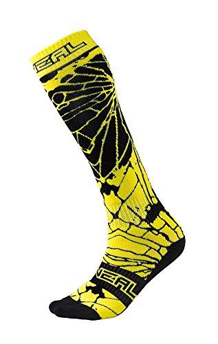 O'Neal Pro MX Knie Socken Enigma Schwarz Neon Gelb Hi-Viz Strümpfe Motocross Enduro Offroad Downhill, 0356-732