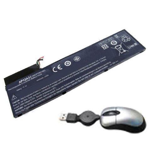 Acer-laptop-batterie-leben (amsahr ACRAP12A3I-05 Ersatz Batterie für Acer AP12A3I, Aspire M3, M5, M5-581TG - Umfassen Mini Optische Maus schwarz)