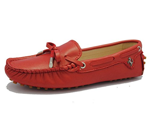Minitoo , Sandales femme Rosso (Red-Leather)