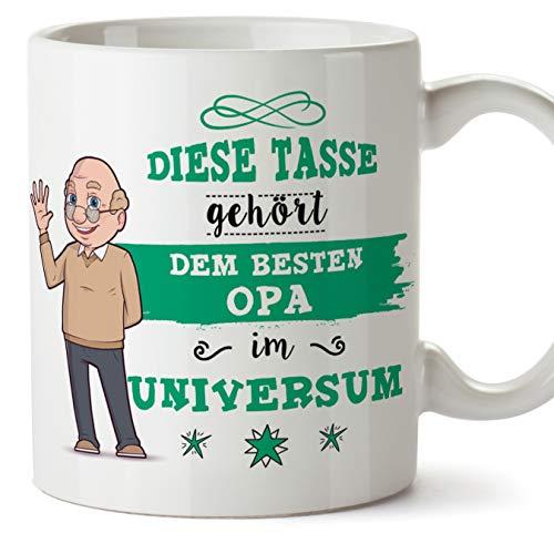 echer/Mug - Diese Tasse gehört dem besten Opa im Universum - Schöne und lustige Kaffeetasse als Geschenkidee für Großväter. Keramik 350 mL ()
