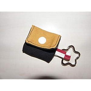 Grau schwarz gelb Einkaufschip Täschchen, Minitäschchen – handmade
