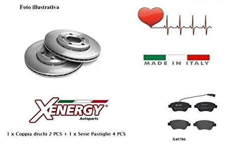 Dischi + Pastiglie Freno Anteriori Xenergy Bravo II 1.4 66-1.4 LPG 66 Kw