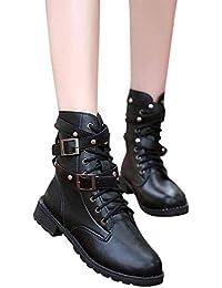 Fuxitoggo Botas Ocasionales de Las Mujeres, Zapatos Calientes Suaves del Tobillo Plano de Las Mujeres