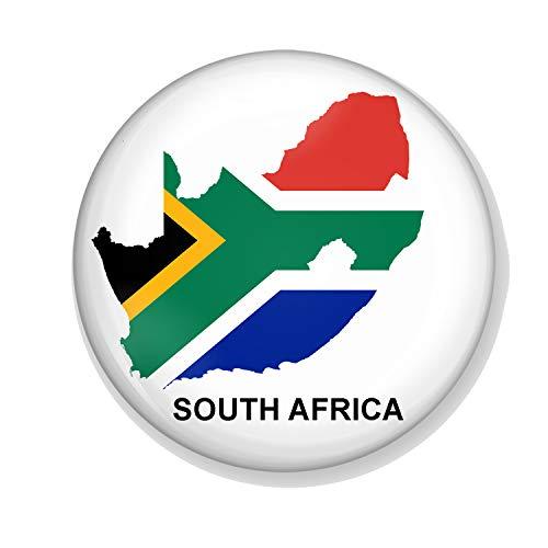 Generic Gifts & Gadgets Co Anstecknadel Südafrikanische Flagge auf dem Land von Südafrika, 25 mm