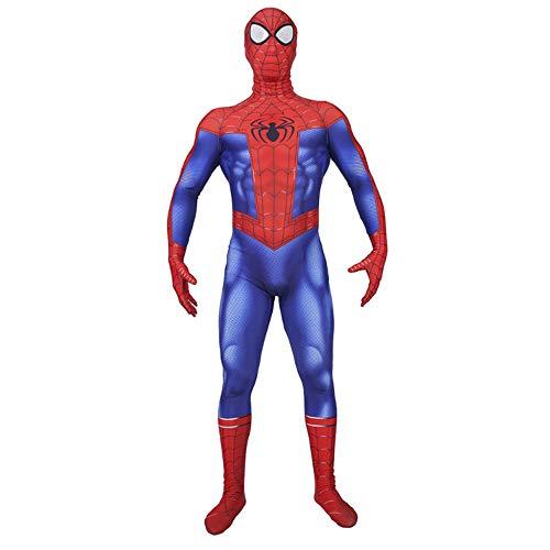 KOUYNHK Spiderman Cosplay Kostüm Kinder,Halloween Superheld Fasching Lycra Jumpsuits Kostümparty Onesies,Adult-M (Venom Kostüm Party Stadt)