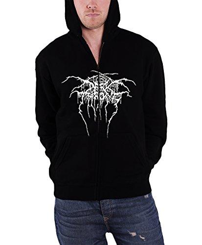 Darkthrone -  Felpa con cappuccio  - Maniche lunghe  - Uomo nero X-Large