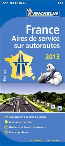 Carte France Aires de services sur autoroutes par Collectif Michelin