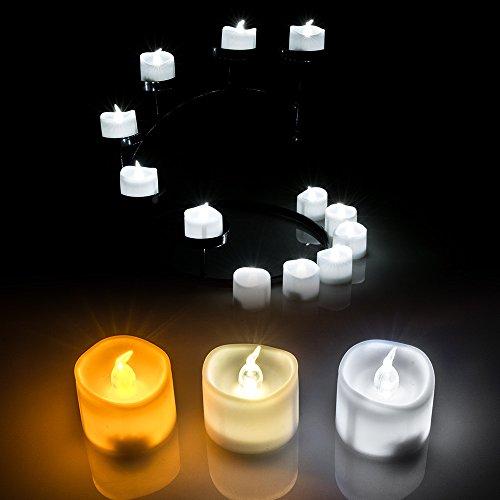 AGPtek Lot 6 Velas LED a Pilas Incorporadas para Decoración de Fiesta Boda ...