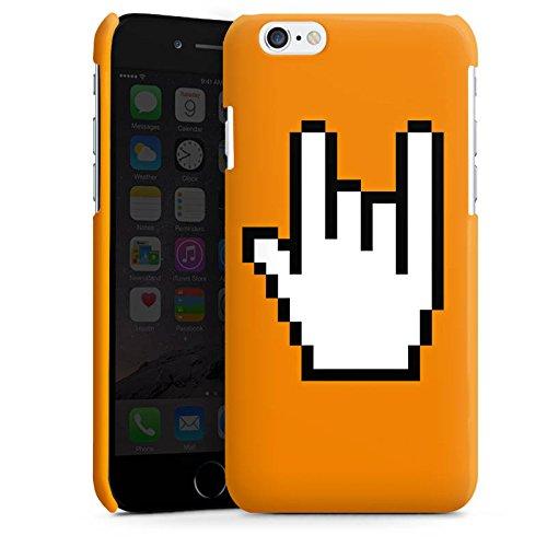 Apple iPhone 5s Housse Étui Protection Coque Rock 8 bit Symbole Main Cas Premium brillant