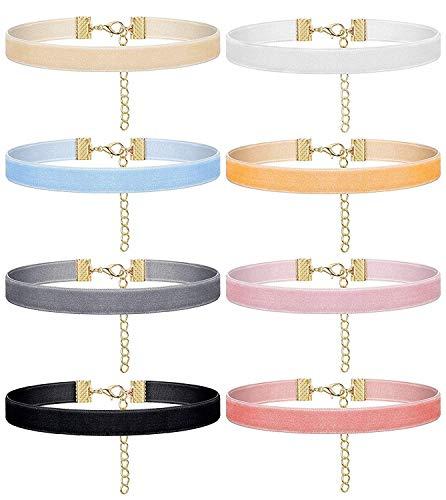 amt Farbband Choker Halskette für Frauen Mädchen Vintage Elegance Bunte Joker Kette Einstellbare modeschmuck Kette Accessoires ()